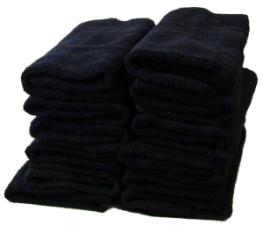Черные махровые полотенца оптом